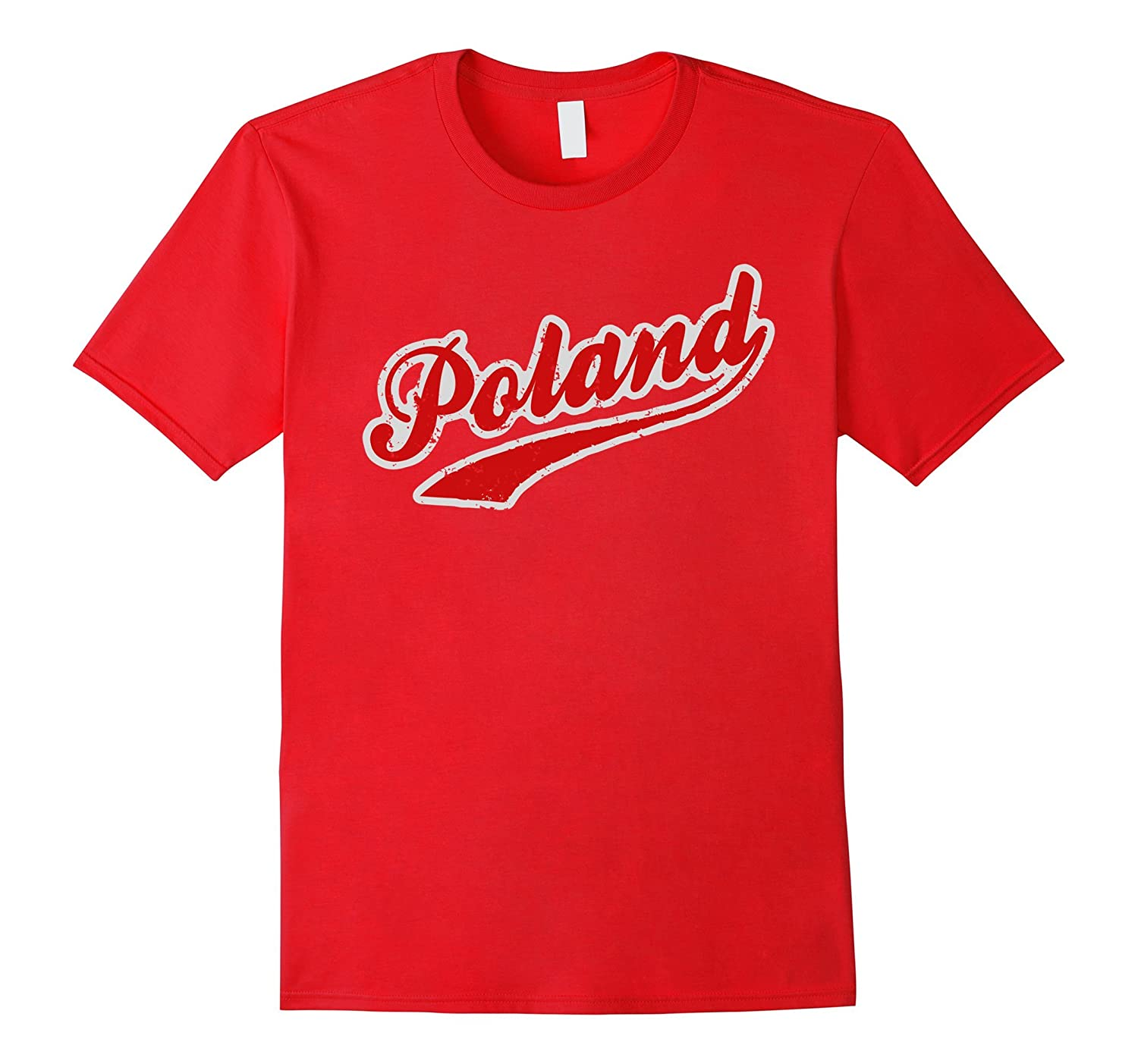 Poland T Shirt - Cool Polish American Team Style Tee-Vaci