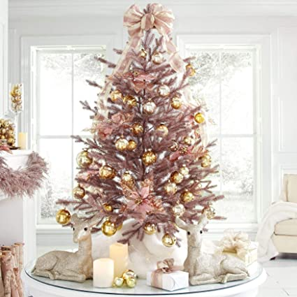 brylanehome 4 rose gold christmas tree rose gold - Gold Christmas
