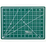 """US Art Supply 9"""" x 12"""" GREEN/BLACK Professional Self Healing 5-Ply Double Sided Durable Non-Slip PVC Cutting Mat Great for Scrapbooking, Quilting, Sewing and all Arts & Crafts Projects"""