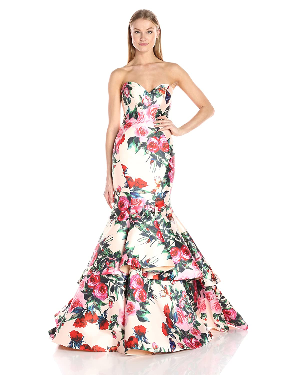f4fddd500b9 Amazon.com  Mac Duggal Women s Sweetheart Floral Mermaid Gown  Clothing