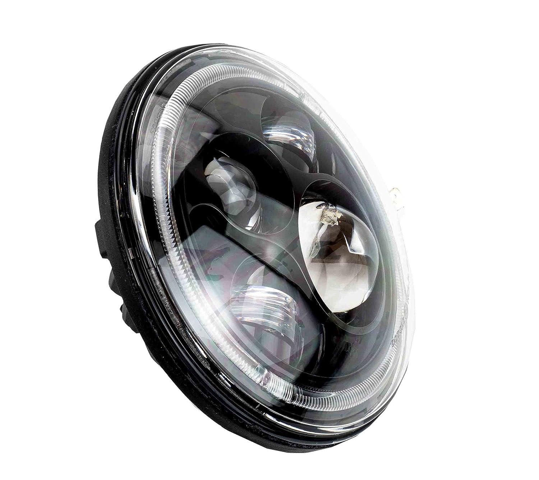 178 mm LED Scheinwerfer rund zugelassen mit E-Nummer 7  Zoll