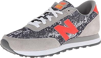 Zapatillas New Balance 501 V1 para mujer, gris/naranja, 5 D US