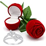 I Jewels Hamper of Sterling Silver Ring with Red Rose Gift Box for Girlfriend Gift for Valentine/Gift for Girl (S001-FL46CO)