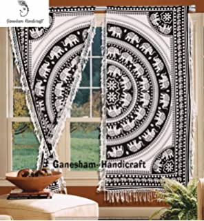 Marvelous Amazon Com 60 Inch Curtain Curtains Hindu Om Omkara Aum Interior Design Ideas Inamawefileorg