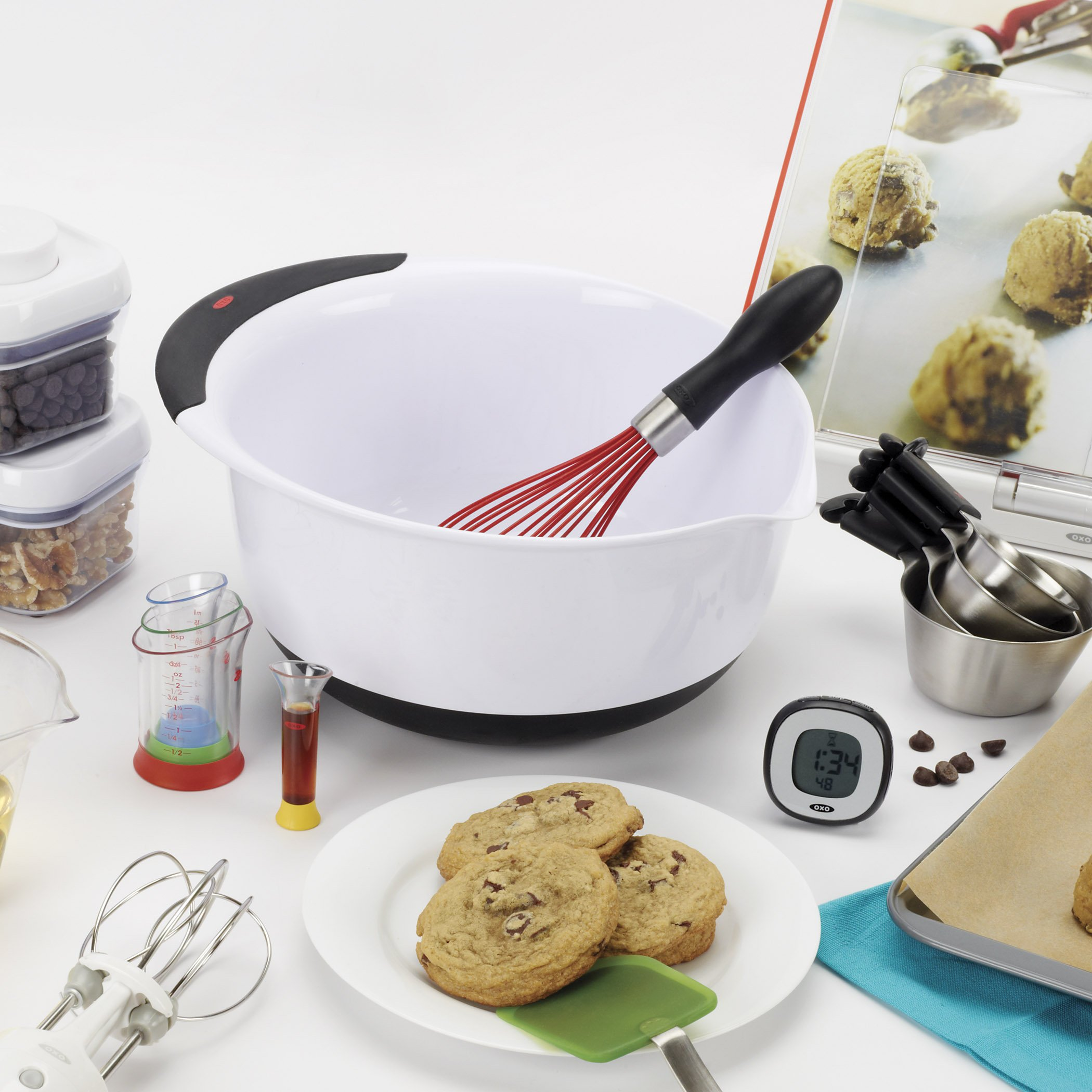 OXO Good Grips Mixing Bowl Set with Black Handles, 3-Piece by OXO (Image #2)