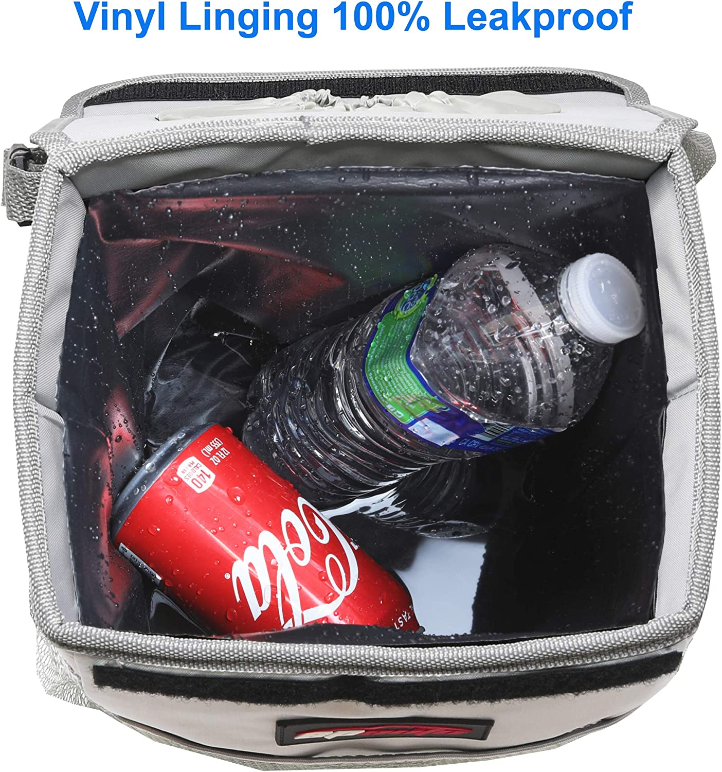 Pink EPAuto Waterproof Car Trash Can with Lid and Storage Pockets