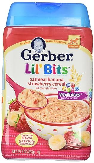 Gerber Lil Bits - Banana de harina de avena: Amazon.com ...