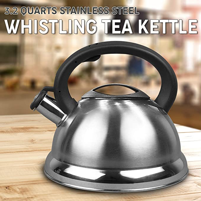 Medelco One All174 Wk112bl 12-cup Stove Top Whistling Tea Kettle