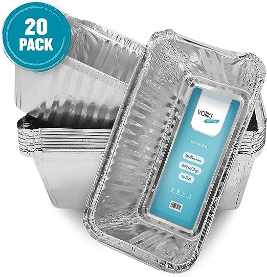 Bandejas de pan desechables de aluminio contenedores de 2 libras ...
