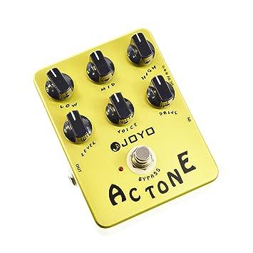 Joyo JF-13 - Pedal multiefecto para guitarra (batería zinc carbono), color amarillo: Amazon.es: Instrumentos musicales