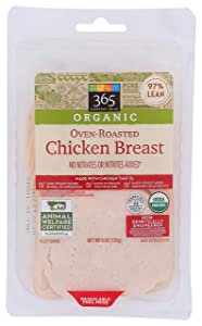 365 Everyday Value, Organic Oven-Roasted Chicken Breast, 6 oz
