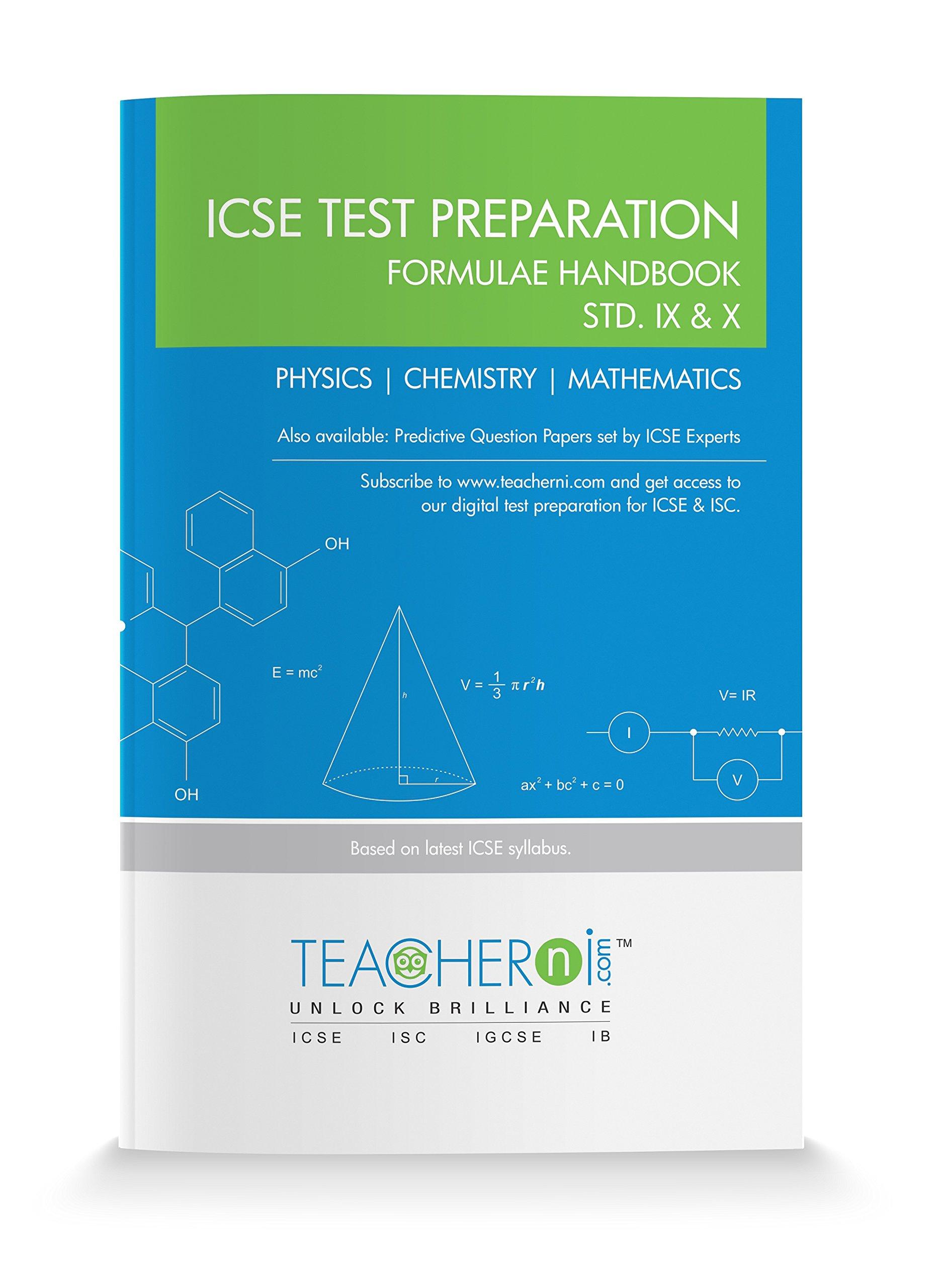 Buy Formulae Handbook STD. IX & X (Physics, Chemistry, Maths) Book ...