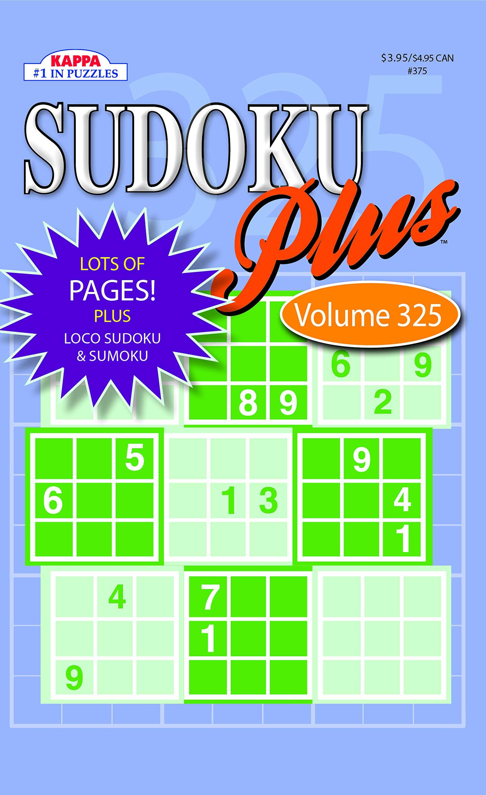 79025c58b5 Sudoku Plus Puzzle Book-Vol.325: Kappa Books Publishers ...