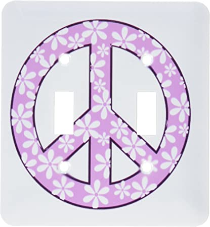 3drose Lsp 101221 2 Purple And White Daisy Peace Sign Double Toggle Switch Multicolor Switch Plates Amazon Com
