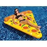 """72"""" Water Sports Inflatable Pizza Slice Novelty Swimming Pool Float Raft"""