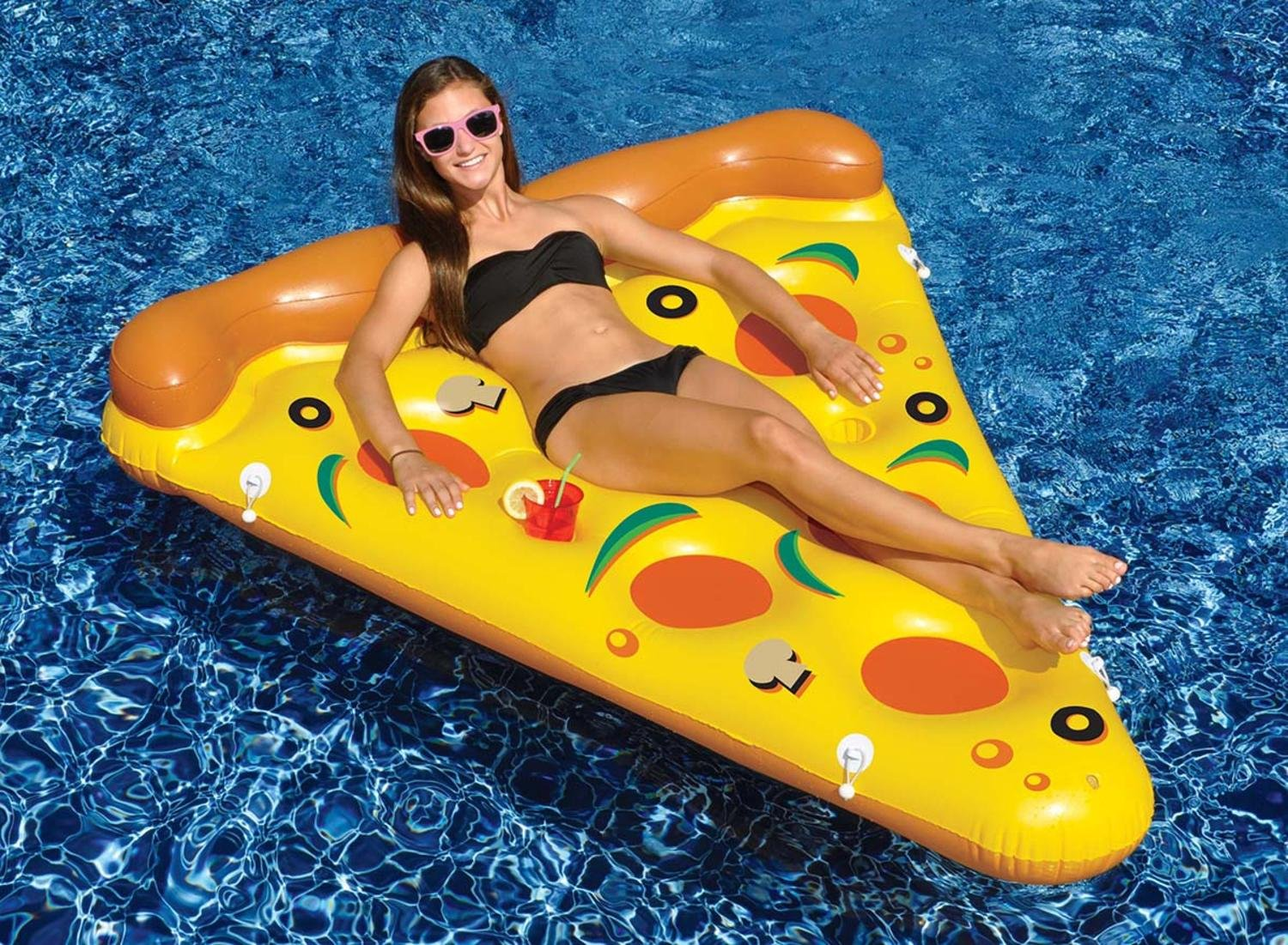 72'' Inflatable Pizza Slice Novelty Swimming Pool Float Raft
