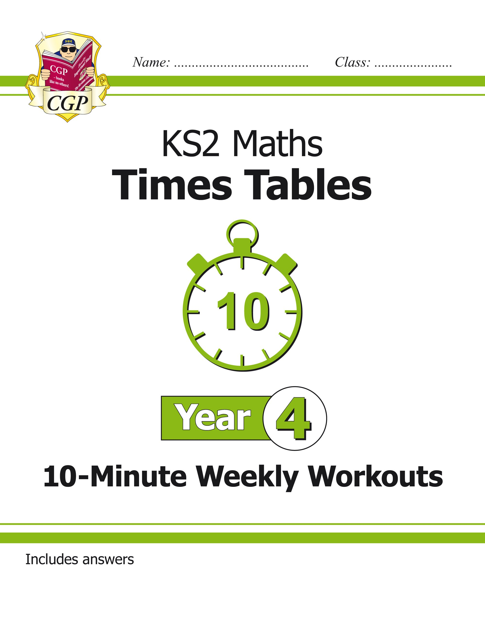New KS2 Maths: Times Tables 10-Minute Weekly Workouts - Year 4 (CGP ...