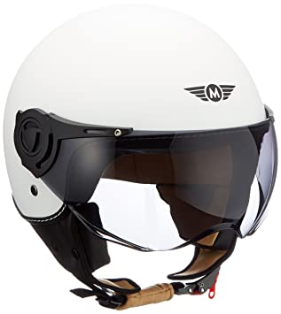 Moto Helmets H44 - Helmet Casco de Moto , Blanco Matte, XL (61-