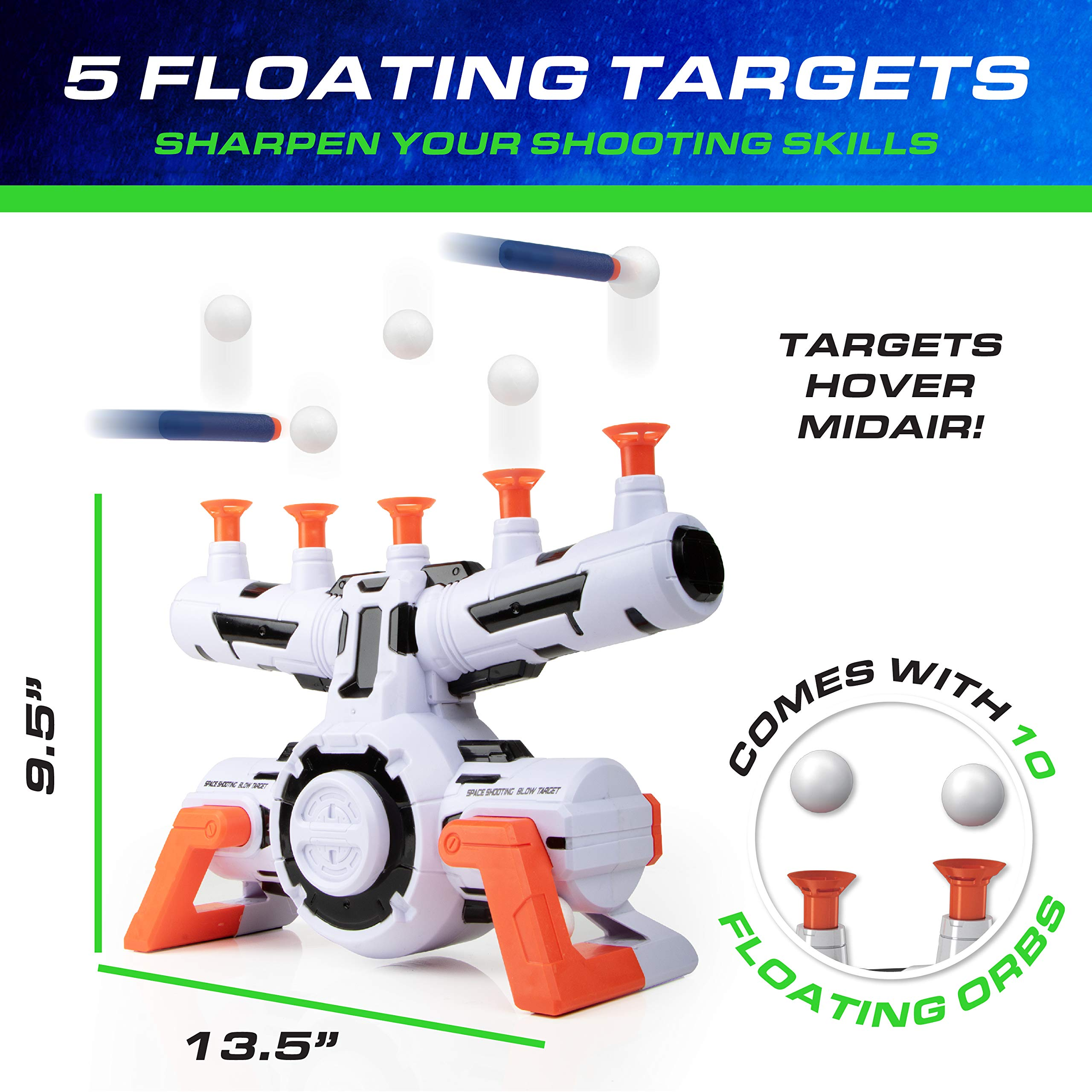 USA Toyz Compatible Nerf Targets for Shooting - AstroShot Zero G Floating Orbs Nerf Target Practice with Blaster Toy Guns for Boys or Girls and Foam Darts by USA Toyz (Image #2)