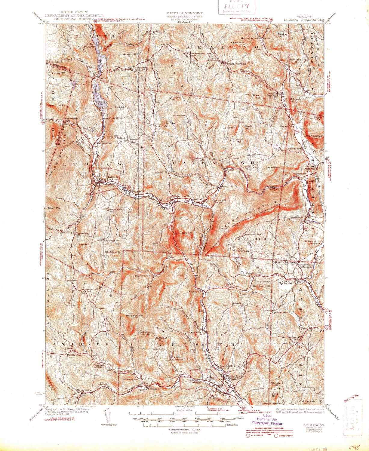 Amazon.com : Ludlow VT topo map, 1:62500 Scale, 15 X 15 Minute ...