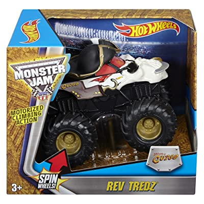 Hot Wheels Monster Jam Rev Tredz Pirate Vehicle (1:43 Scale): Toys & Games