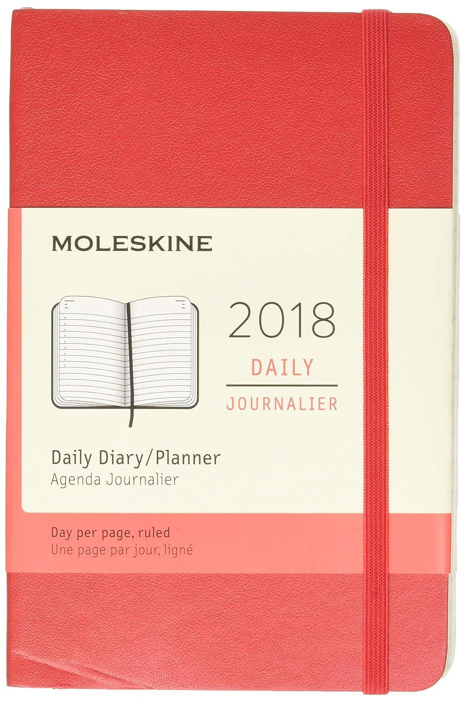 Diario planificador Moleskine, 12 meses, 2018, cubierta suave (idioma español no garantizado), color negro Large