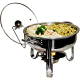 Excelsteel 4-Quart Heavy Duty Professional Stainless Chafing Dish