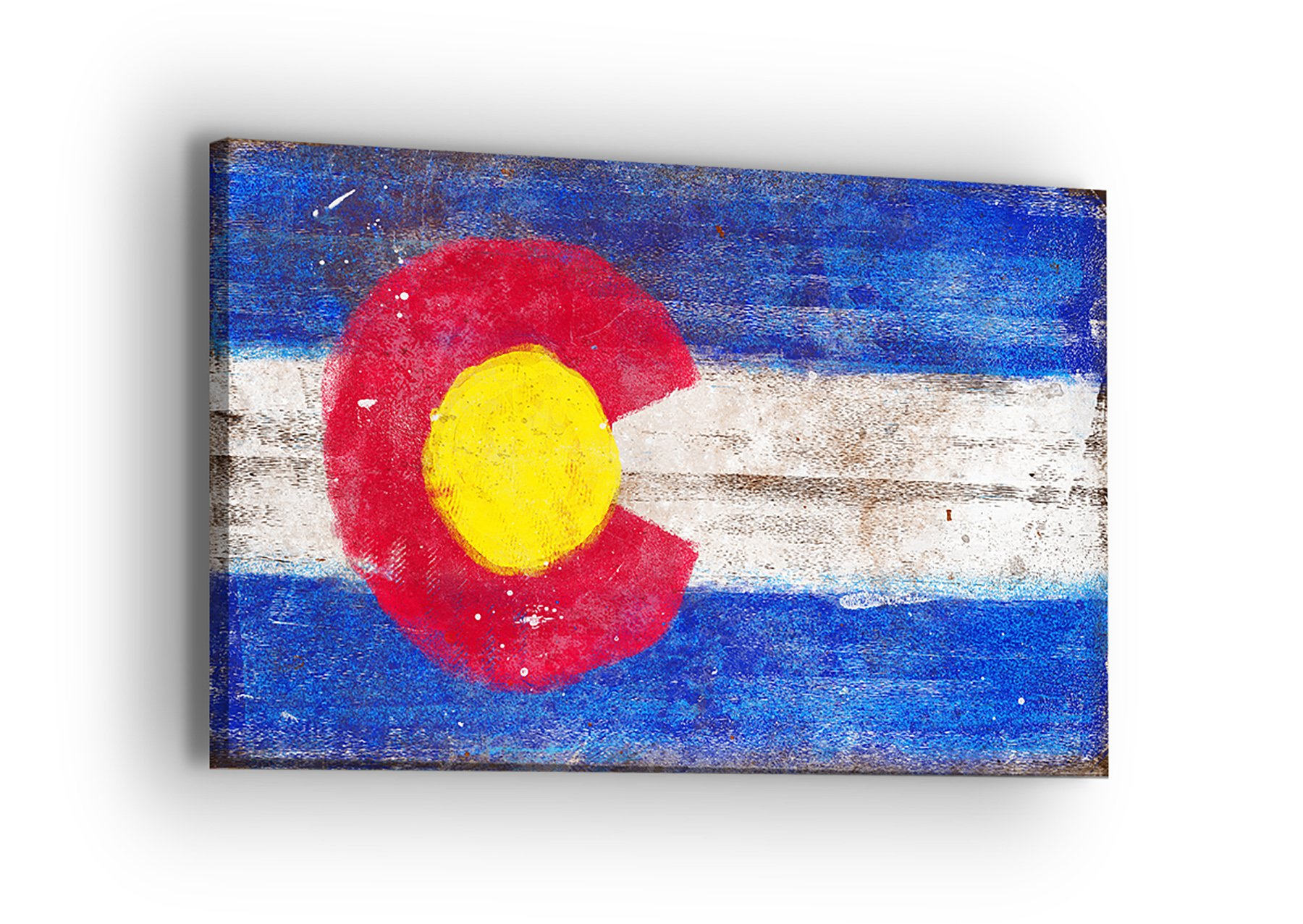 United Streets of Art Colorado Flag Canvas Wall Art - Professional Quality Print Gallery Wrap Modern Home Decor - Ready to Hang - Made in USA