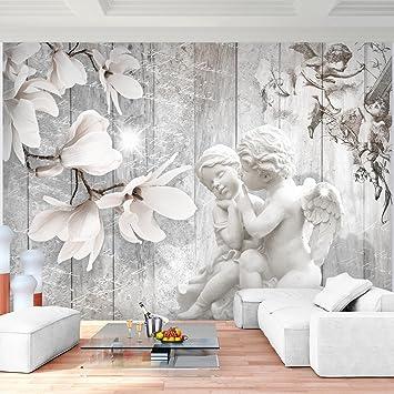 Tapeten wohnzimmer blumen  Fototapete Vintage Blumen 396 x 280 cm - Vlies Wand Tapete ...