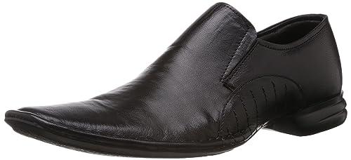 4401918f1a7e Franco Leone Men s Black Leather Formal Shoes - 10 UK India (44 EU ...