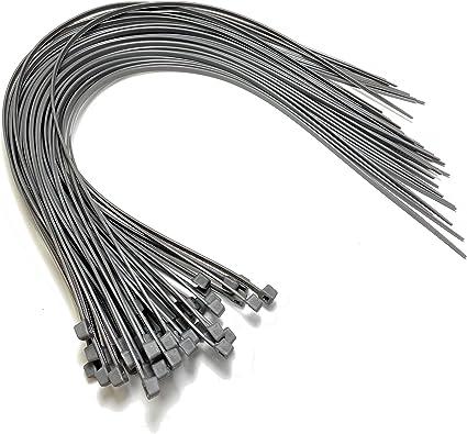 Nylon Kunststoff Kabelbinder Lang Und Breit Xl Größe Kabelbinder Schwarz Und Weiss Plastik Silber 4 8mm X 450mm Baumarkt