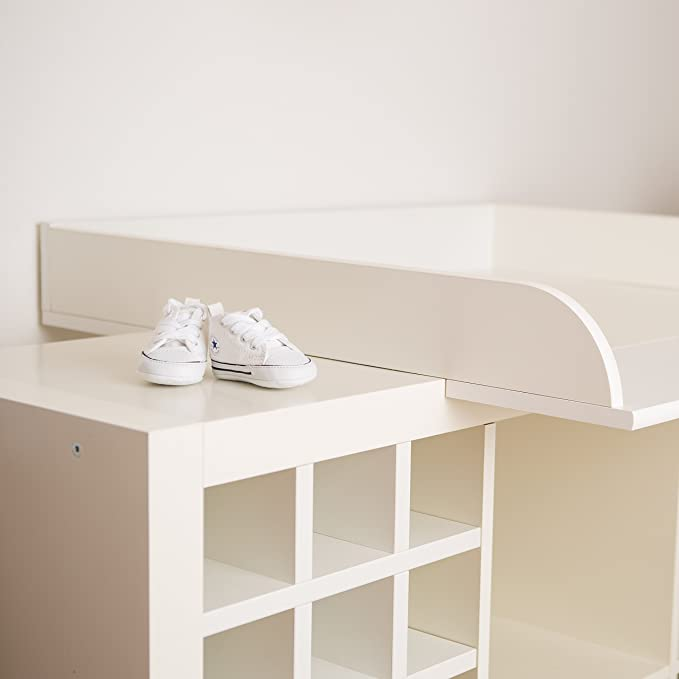PuckDaddy XS-K-1 Extra bordes redondeados! Cambiador superior adecuado para todos los estantes Kallax de IKEA: Amazon.es: Bebé