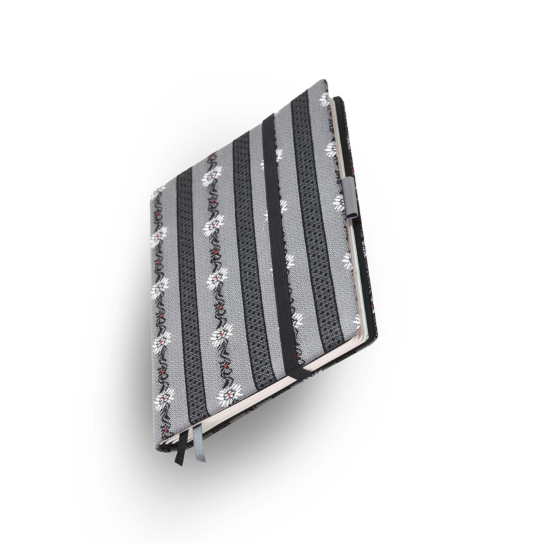 Whitebook Tailored Notebook、ファション F003-ML、綿スイス製のエーデルワイス布地、灰色、240 P ノート FSC(iPad Mini への装備可、ノートの取替え可)   B00DG2503Q