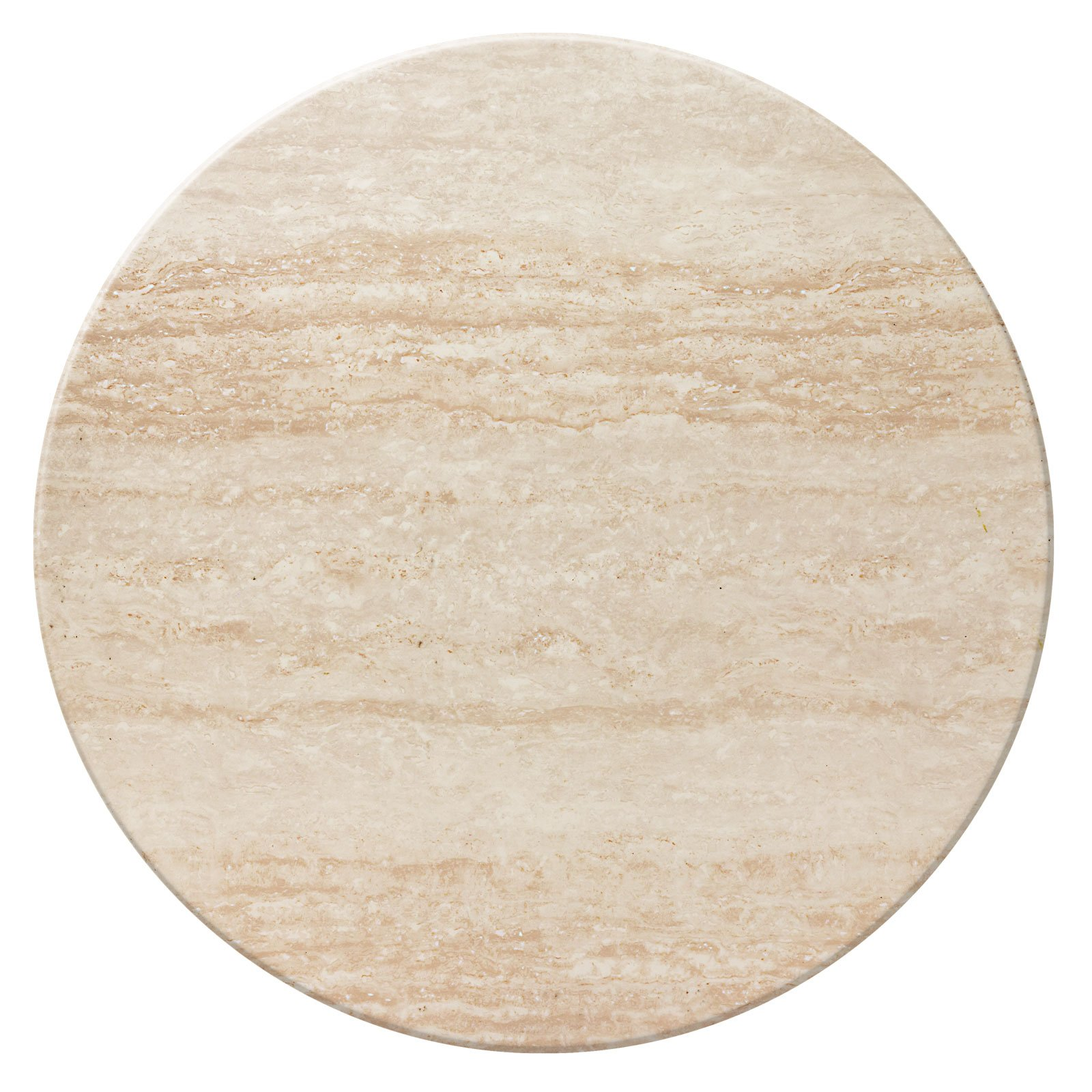 Duratop 36'' Round Table Top in Travertine