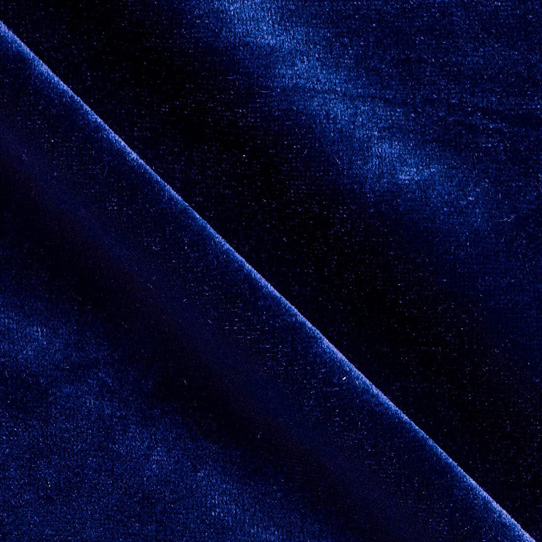 Stretch Velvet Knit Royal Fabric By The Yard