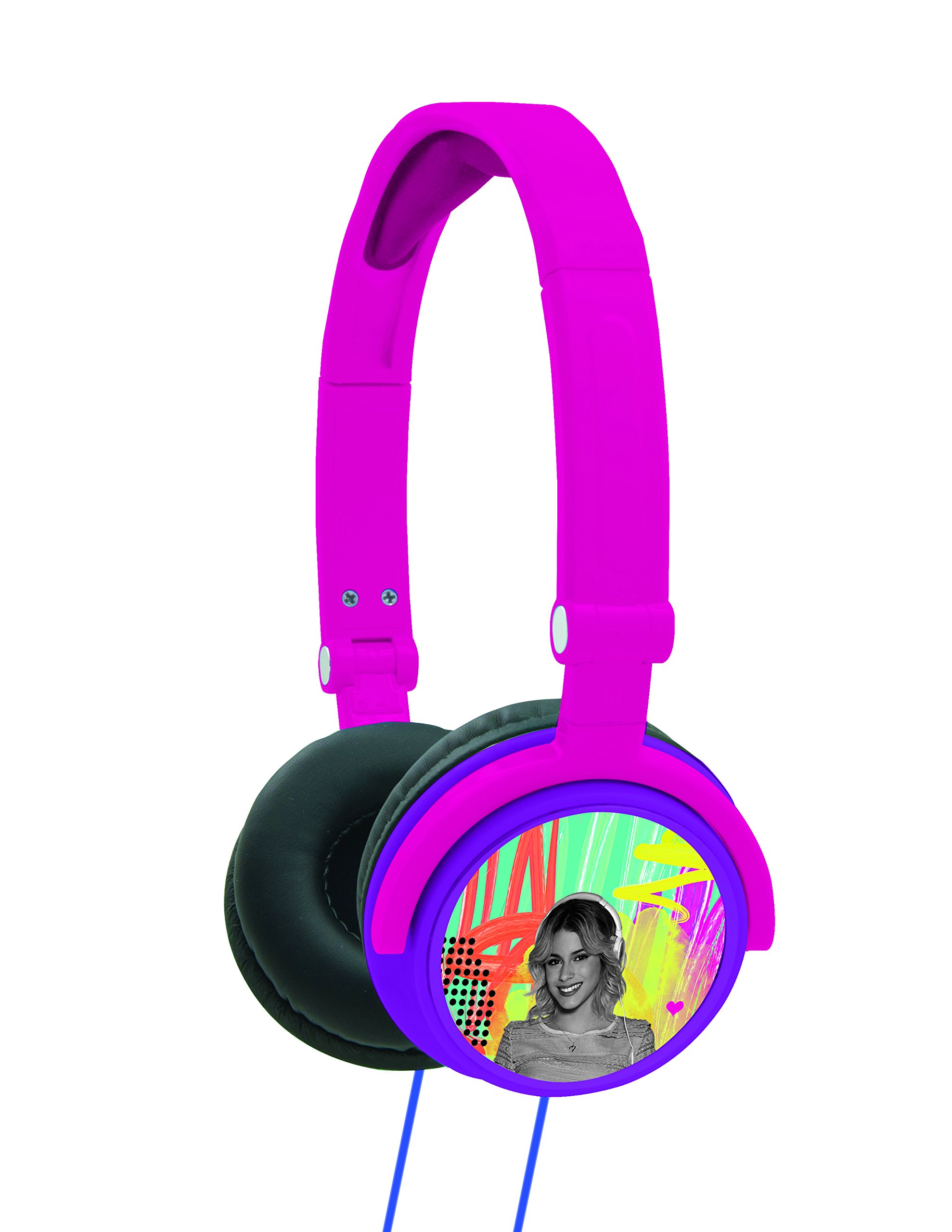LEXiBOOK Disney Violetta Stereo Headphone, Kids Safe, Foldable and Adjustable, Pink / Purple, HP010VI by LEXiBOOK (Image #1)