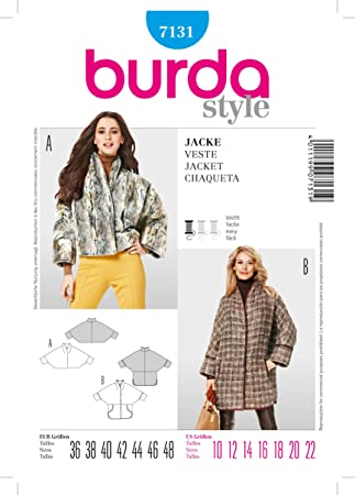 Burda Schnittmuster 7131 Jacke - Kimono?rmel Gr. 36-48: Amazon.de ...