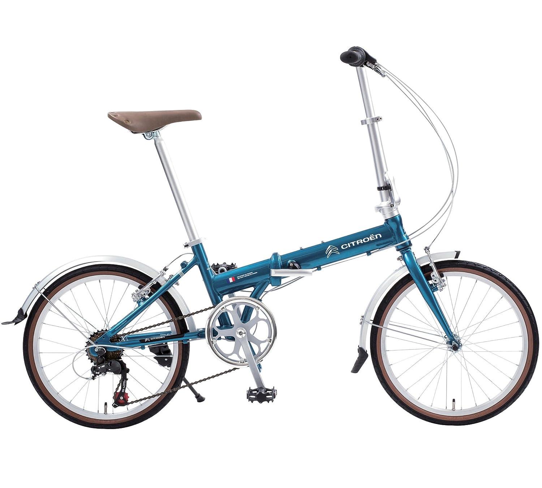 CITROEN(シトロエン) AL-FDB207 20インチ アルミ軽量 折りたたみ自転車 シマノ7段変速機搭載 ハンドル高さ調節機能付きステム採用 前後泥除けフェンダー標準装備 65203 B077GRWHQT ブルー ブルー