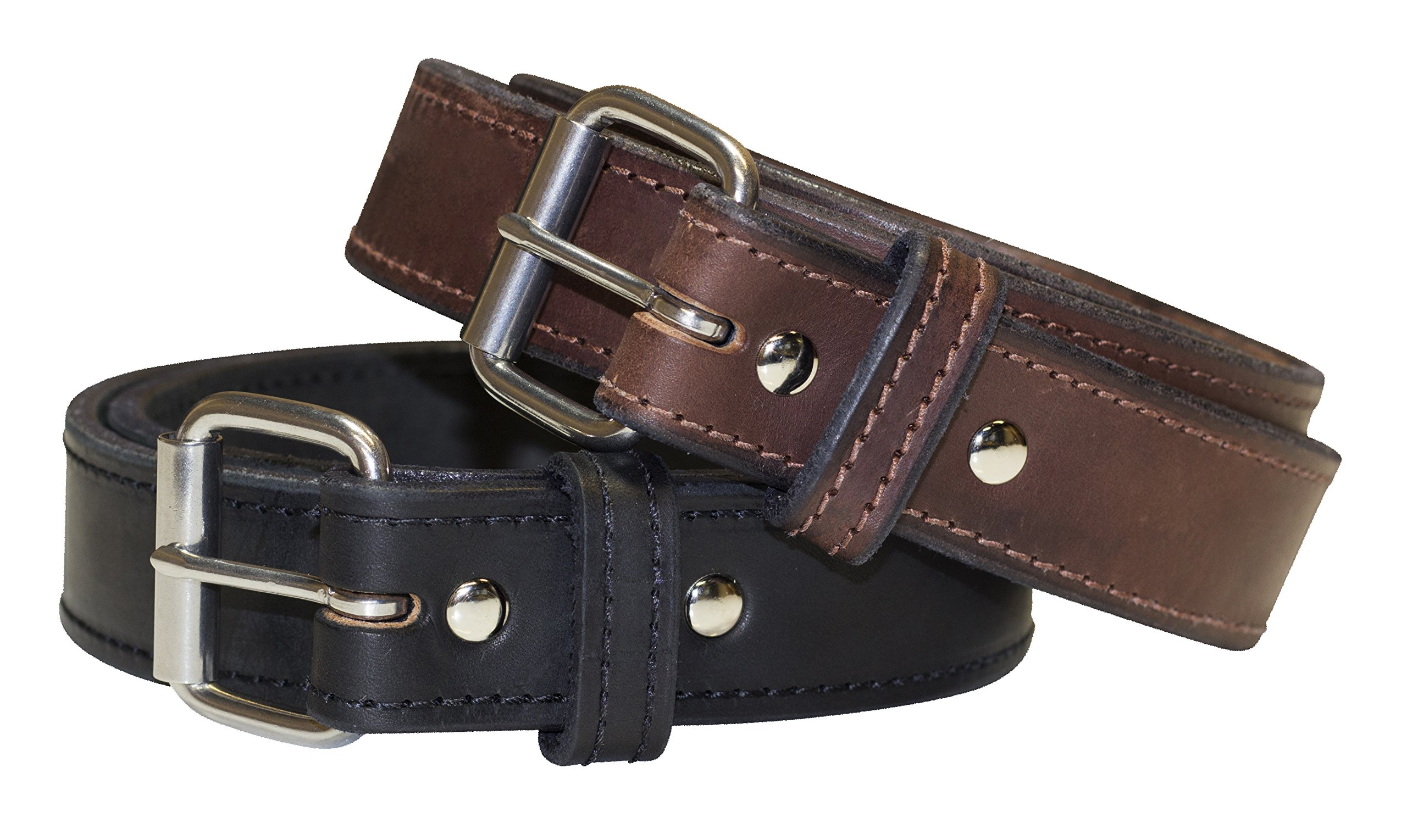 Relentless Tactical The Ultimate Concealed Carry CCW Leather Gun Belt - New and Improved - 14 Ounce 1 1/2 inch Premium Full Grain Leather Belt - Handmade in The USA! Black Size 50 by Relentless Tactical (Image #9)