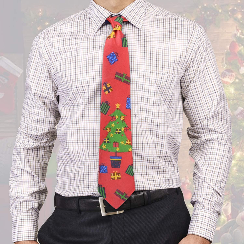 Fascigirl 4PCS Christmas Tie Disposable Funny Printed Neck Tie ...