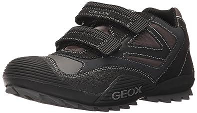 c5626fb814df Geox Boys  Savage 30 Sneaker Black Dark Grey 24 M EU Toddler (8