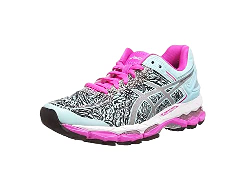 ASICS Gel-Kayano 22 Lite-Show - Zapatillas de Running para Mujer, Color Azul (Aqua Splash/Silver/Pink Glow 6793), Talla 35.5: Amazon.es: Zapatos y complementos