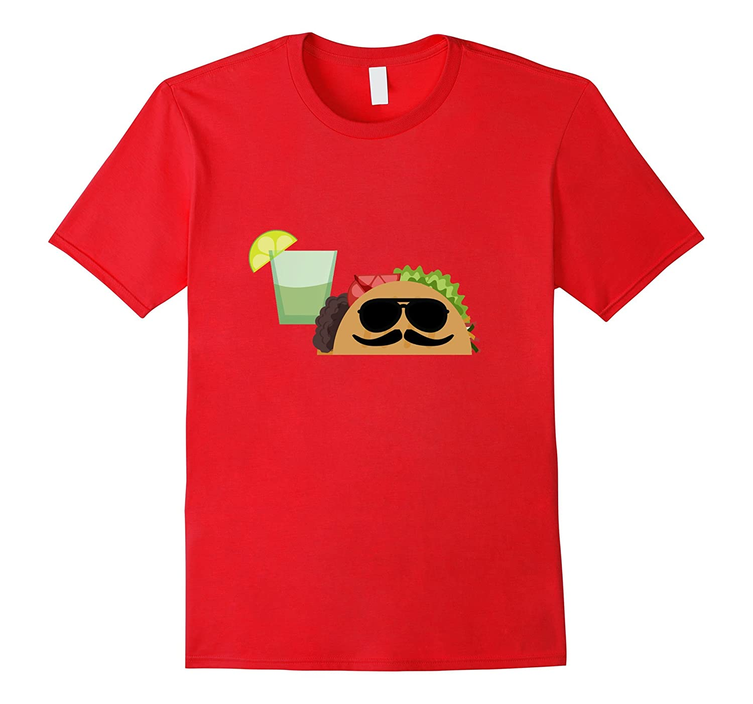 Taco Time T-Shirt - Funny Sunglasses Burrito Mexican Food-Vaci