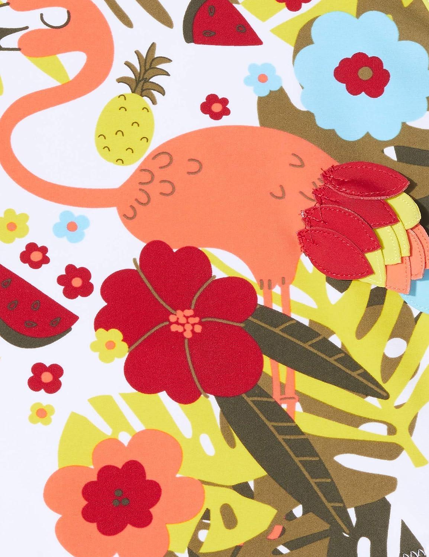 TUC TUC Costume da Bagno Fiori Bambina Rosso Tropical Jungle