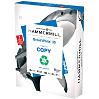 Hammermill Printer Paper, Great White 30% Recycled Paper, 3 Hole - 1 Ream (500 Sheets) - 92 Bright, Made in the USA