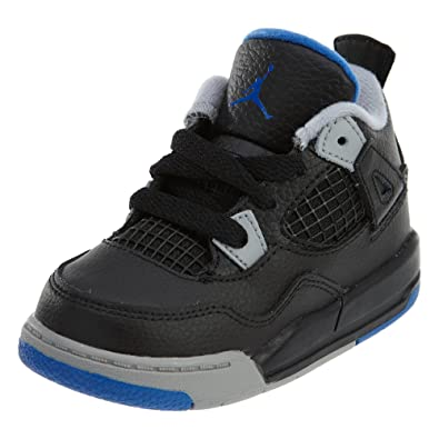 bdd6782b8ca0d3 Jordan Retro 4 quot Alternate Motorsports Black Game Royal-Matte Silver ( Toddler)