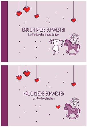 Geschenk Zur Geburt Für Geschwisterendlich Große Schwester Hallo Kleine Schwester Erinnerungs Foto Albumöko Recycling Papier