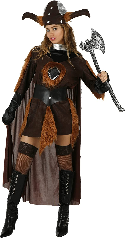 Atosa - Disfraz de vikingo para mujer, talla única: Amazon.es ...