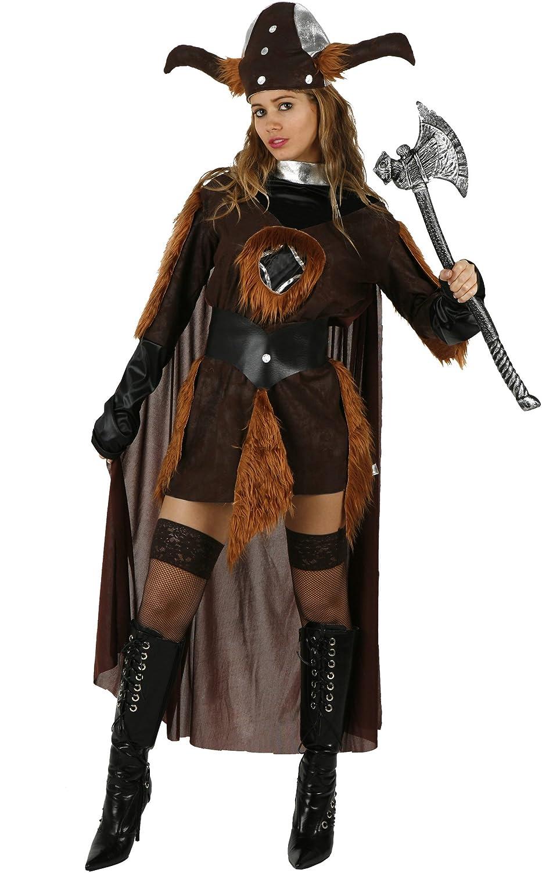 Atosa - Disfraz de vikingo para mujer, talla única: Amazon ...