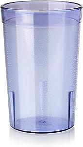 New Star Foodservice 46632 Tumbler Beverage Cup, Stackable Cups, Break-Resistant Commercial Plastic, 8 oz, Blue, Set of 72